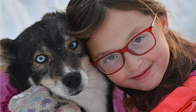 l'amore degli husky per i bambini