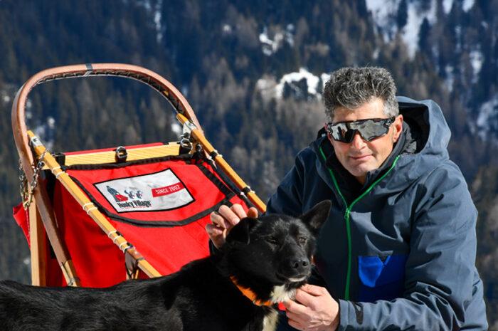 Lorenzo, proprietario e musher dell'Husky Village