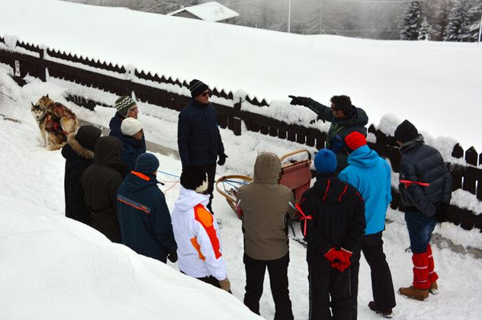 briefing iniziale dello sleddog ad arnoga